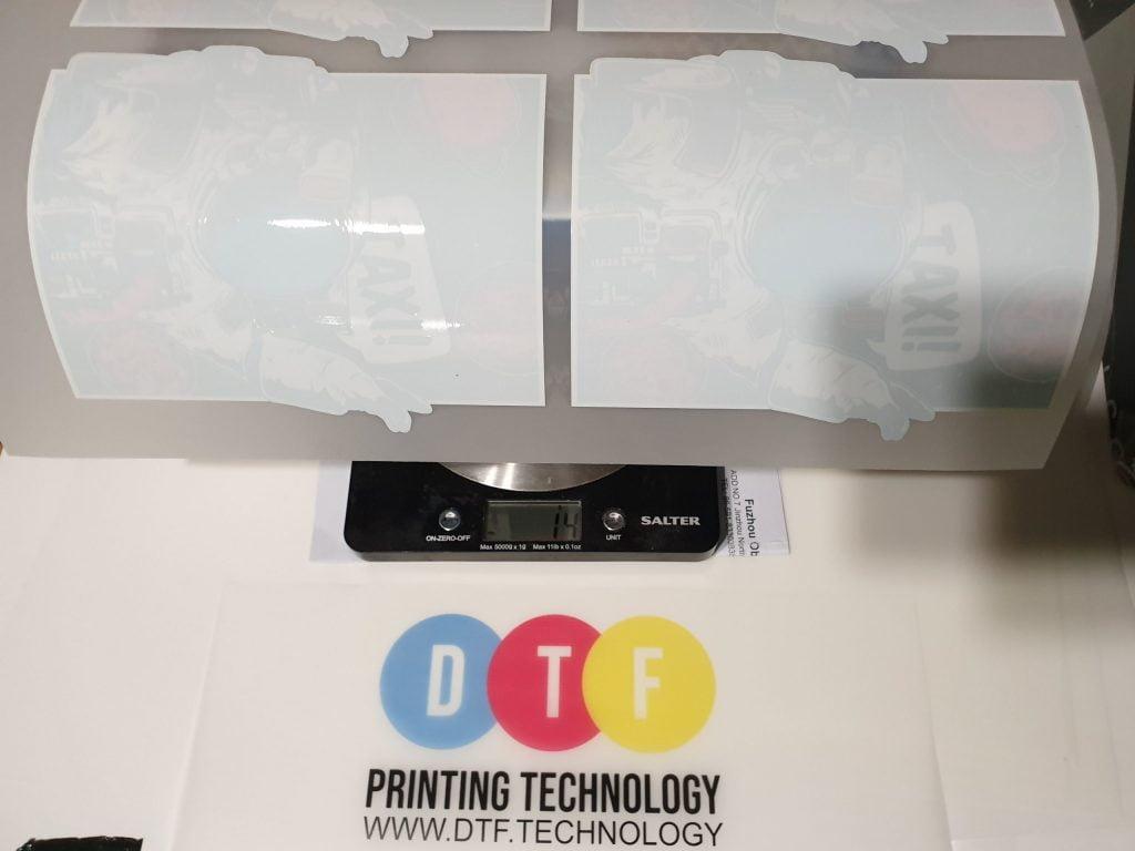dtf printing powder ink usage